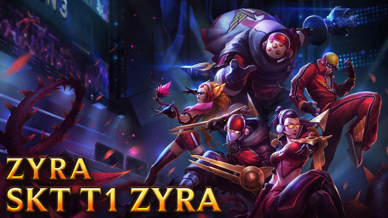 SKT T1 Zyra - Skins lol