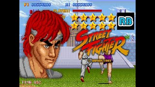 1987 [60fps] Street Fighter Ryu ALL