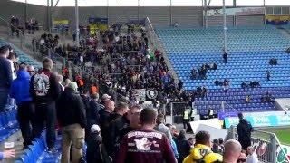 1.FC Magdeburg - Lok Leipzig, Ankunft der Lok Fans im Stadion