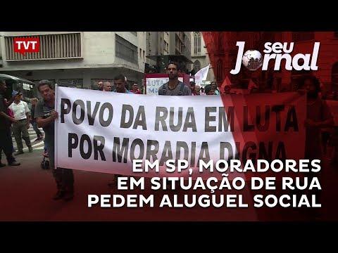Em São Paulo, moradores em situação de rua pedem aluguel social