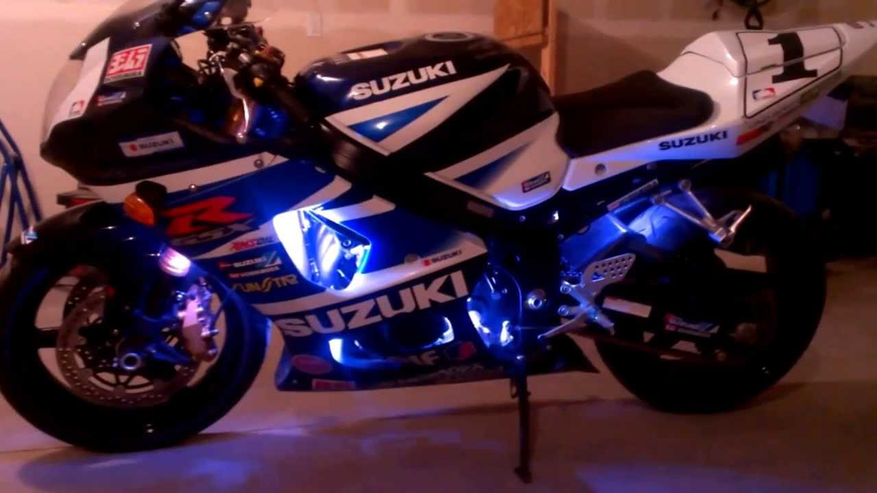Gsxr 1000 With Led And Hid 6000k Lights Sick Youtube