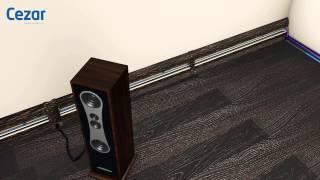 Как установить пластиковый плинтус с кабель каналом Cezar?(Монтаж напольного плинтуса ПВХ Цезарь, с кабель каналом и резиновыми краями, на саморезы, дюбель гвозди..., 2015-05-13T09:33:16.000Z)