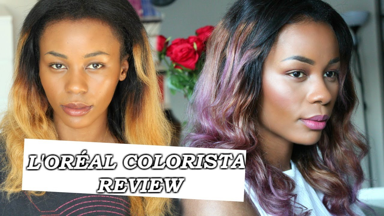 LORAL COLORISTA REVIEW Purple Washout Ombre Hair
