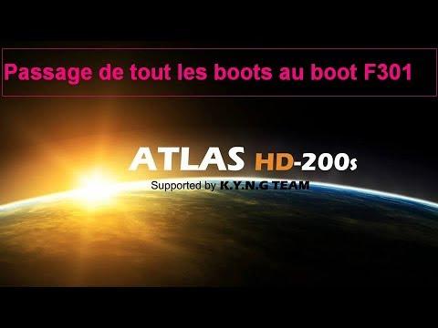 boot f301 pour atlas hd 200s