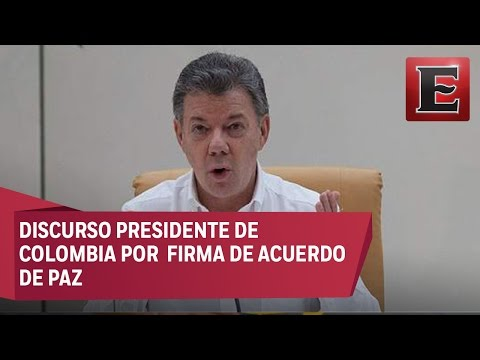 Discurso de Juan Manuel Santos tras firma del acuerdo de paz con las FARC