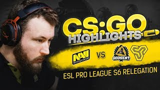 CSGO Highlights: NAVI vs Space Soldiers, GODSENT @ ESL Pro League S6 Relegation