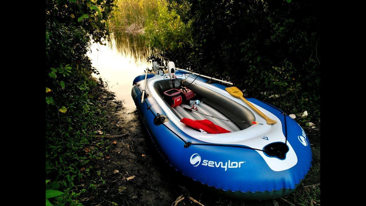 Sevylor Super Caravelle 116 Inflatable Boat With 55 Lb