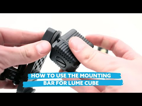 How to Use the Mounting Bar for Lume Cube