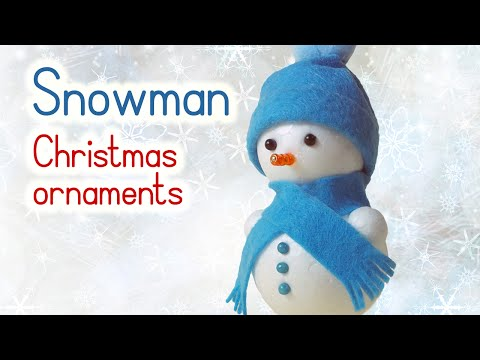DIY Christmas crafts: SNOWMAN Christmas ornaments - Innova Crafts