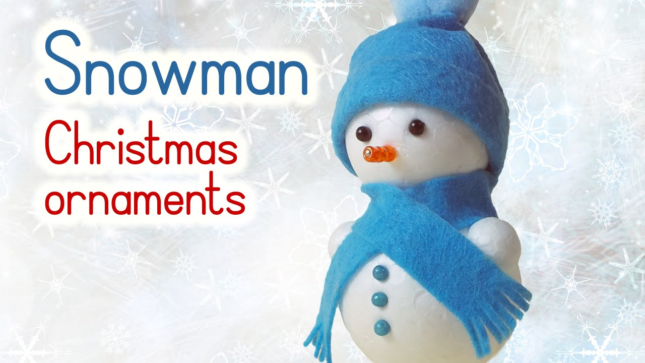 diy christmas crafts snowman christmas ornaments innova crafts youtube