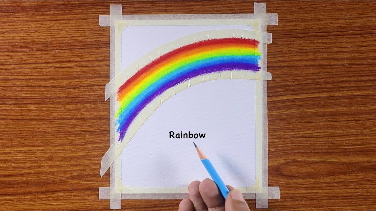 Easy Rainbow Drawing / Drawing with Oil Pastels / Step by Step