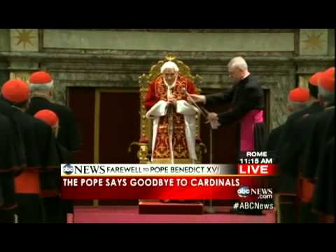 Benedict XVI DEPARTS the Vatican for Last Time as Pope | Pope Benedict XVI LEAVES Vatican City
