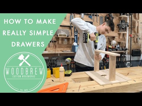 Simple Easy To Make Drawers   Woodbrew