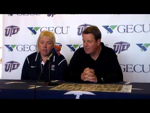 UTEP Basketball - Keitha Adams and Tim Floyd