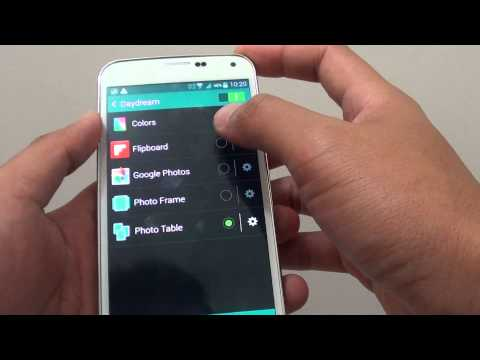 Samsung Galaxy S5: How to Enable/Disable Daydream / Screen Saver