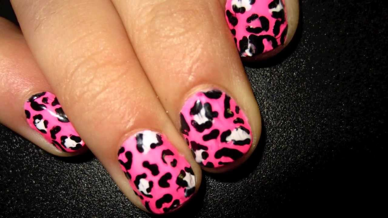 EXCLUSIVE Leopard Nails - Design #1 of 3 - YouTube