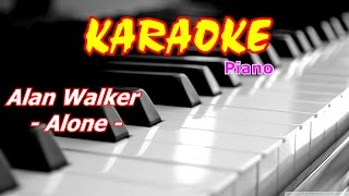 Alan Walker - Alone Karaoke Piano beat