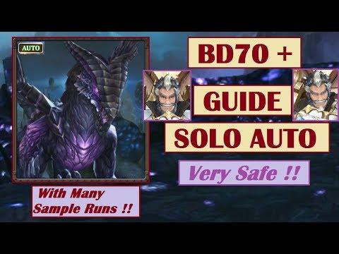 King's Raid - Comprehensive Guide to Auto Solo BD70 - BD72 Raid (Black Dragon 70 - 72)