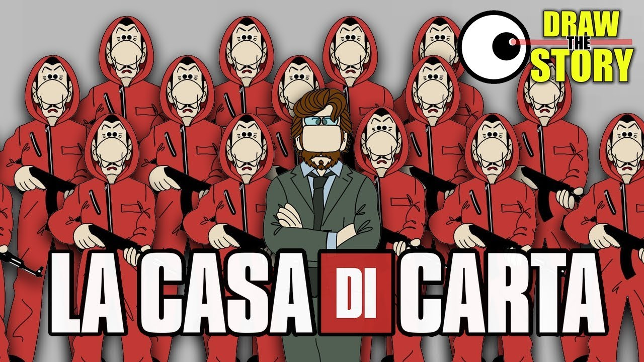 Download La PRIMA STAGIONE de LA CASA DI CARTA in 12 minuti 🧻 Draw The Story