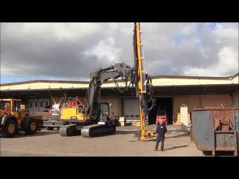 20180928 Volvo EC380ENL, 2-piece boom, drilling mast