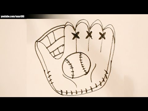 d0be58ce5ac How to draw a baseball glove - YouTube