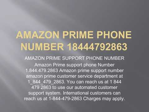 Amazon Prime Phone Number 18444792863 Amazon Prime Support Phone Number