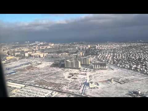 Flight landing at Odessa/ Посадка в Одессе 02/01/2016