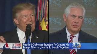 Trump Claims He Would Win IQ Test Against Tillerson