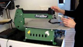 Installing And Tensioning The Blade On The Excalibur Scroll Saw.wmv