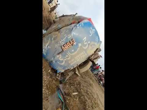 Saeed abad Karachi water tanker and car accident