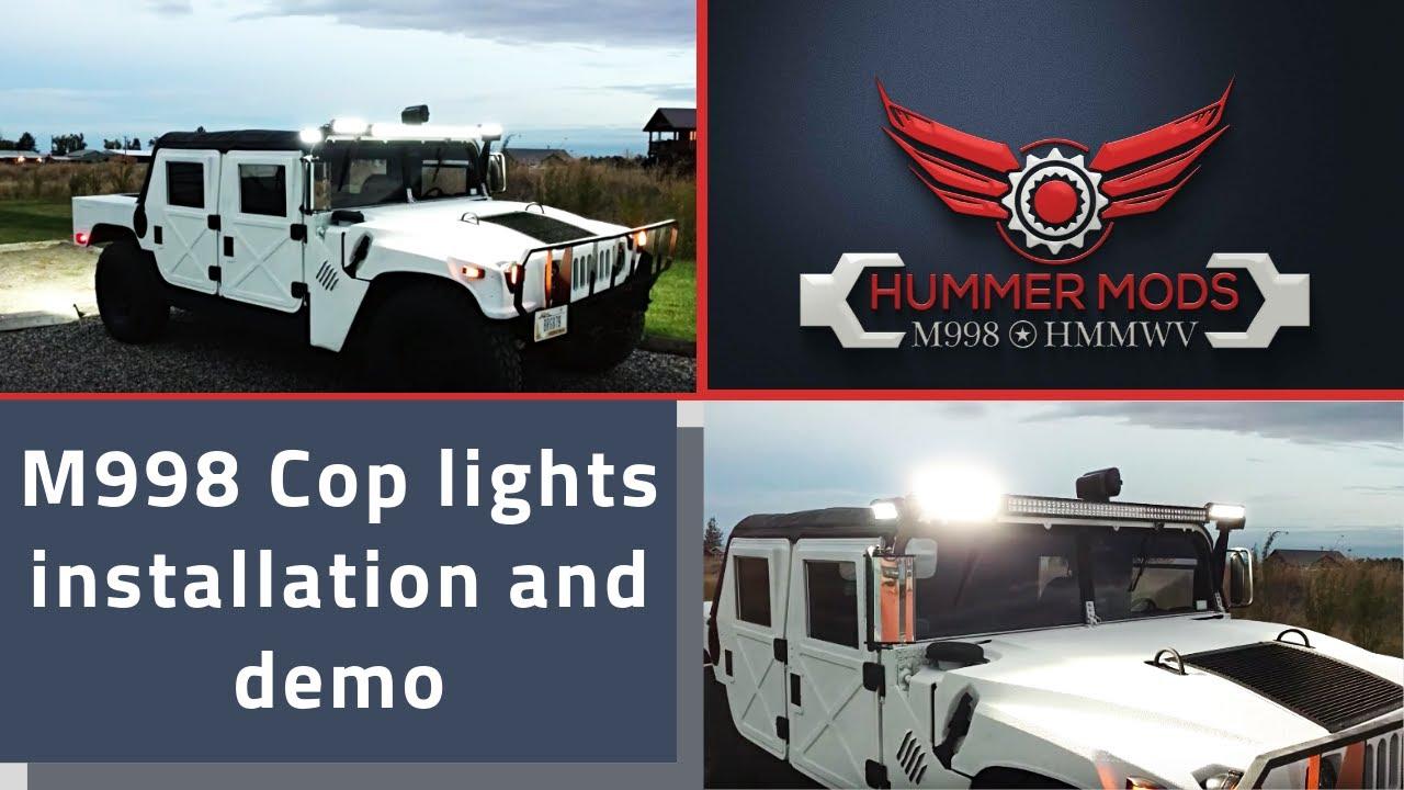 Hummer Cop Lights Install And Demo Dyi Led Light Bar