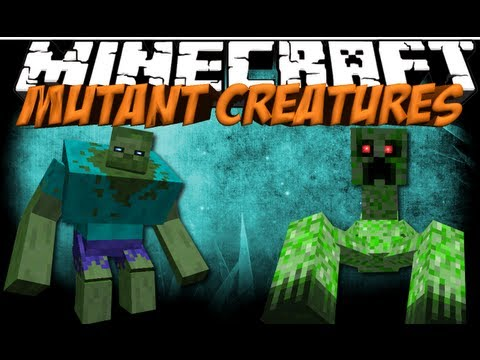 Mutant Creatures Mod: Minecraft Mutant Zombie & Creeper Mod Showcase!
