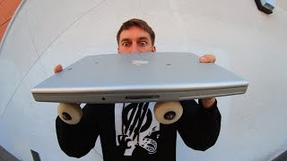 SKATEBOARD TRICKS ON A MACBOOK PRO ! SKATE EVERYTHING EP 6