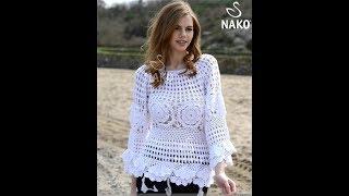 Вязание Крючком Летней Кофточки - Класс! Мастер! - образцы работ - 2018 / Summer Blouse Crochet