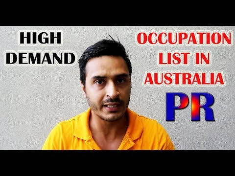 LIST OF HIGH DEMAND OCCUPATION IN AUSTRALIA FOR PR WITH CUTOFF