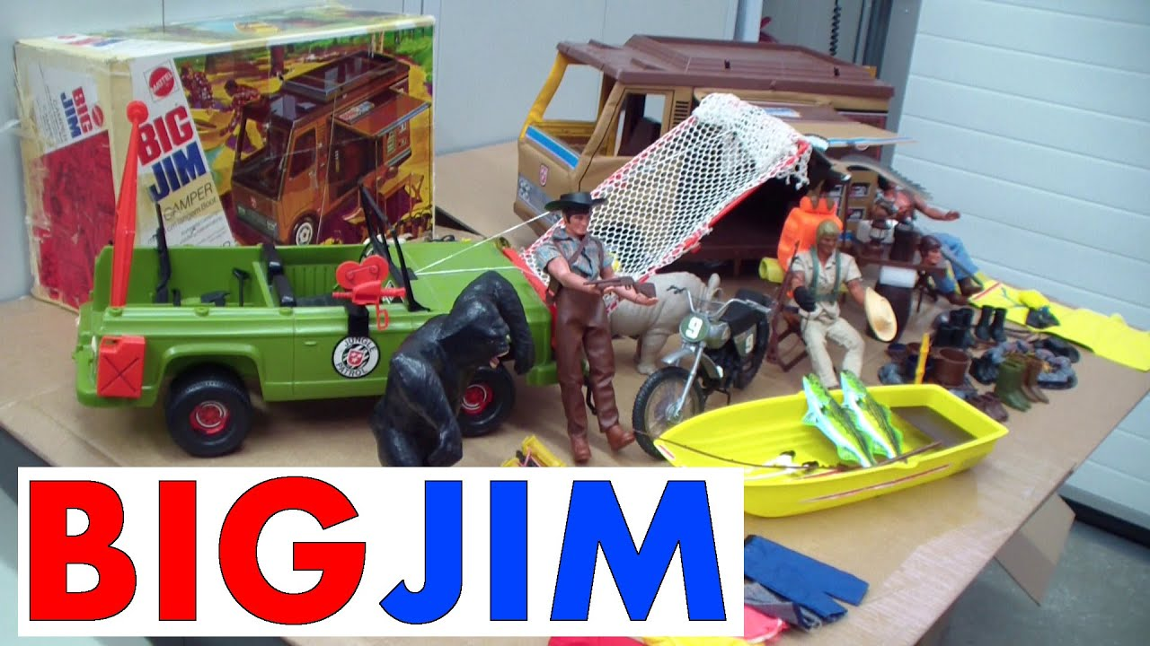 big jim von mattel camper jeep gorilla adler youtube. Black Bedroom Furniture Sets. Home Design Ideas