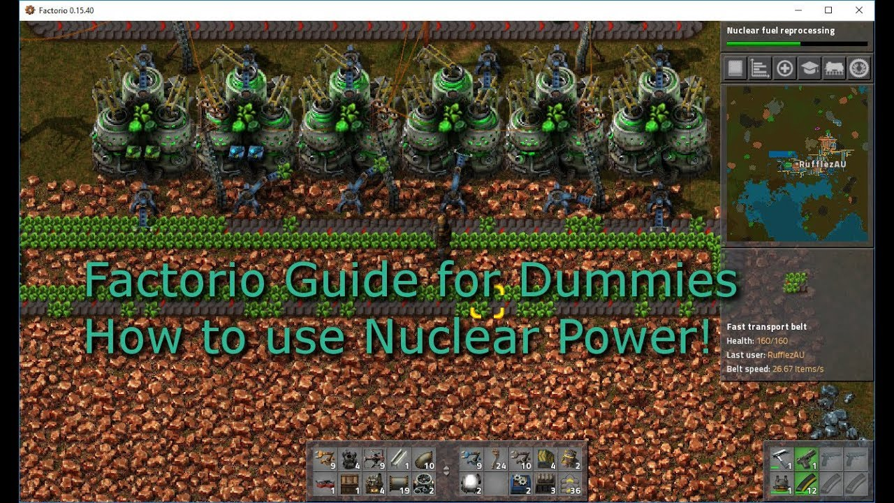 Factorio   Guide For Dummies   How To Create A Basic Nuclear Power Setup  Guide, Centrifuge, Easy
