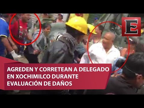 Video: Agreden y corren a delegado en Xochimilco