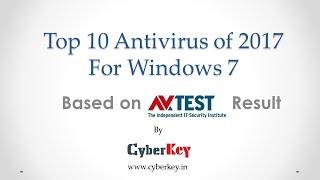 Top 10 Antivirus of 2017 For Windows 7 [AV-TEST Result]