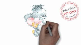 Нарисованные карандашом животные  Как нарисовать поэтапно и просто радостного слоника