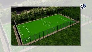 Новое поле для мини футбола
