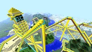 A MELHOR MONTANHA RUSSA DO MINECRAFT!! (The Golden Roller Coaster)