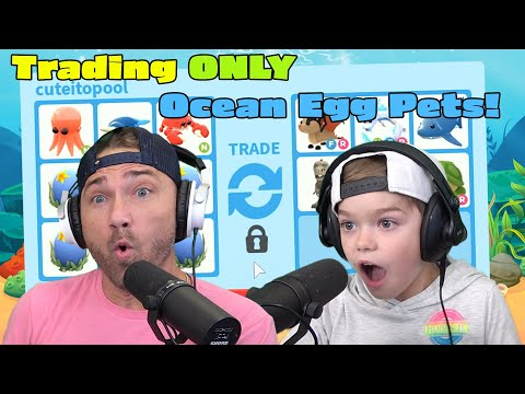 Trading ONLY Ocean Egg Pets!! Roblox Adopt Me!!