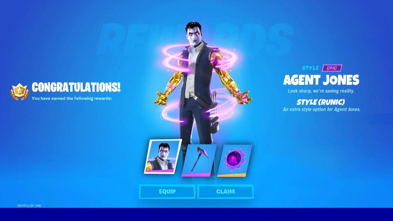 Download Unlock RUNIC Agent Jones Style in Fortnite!