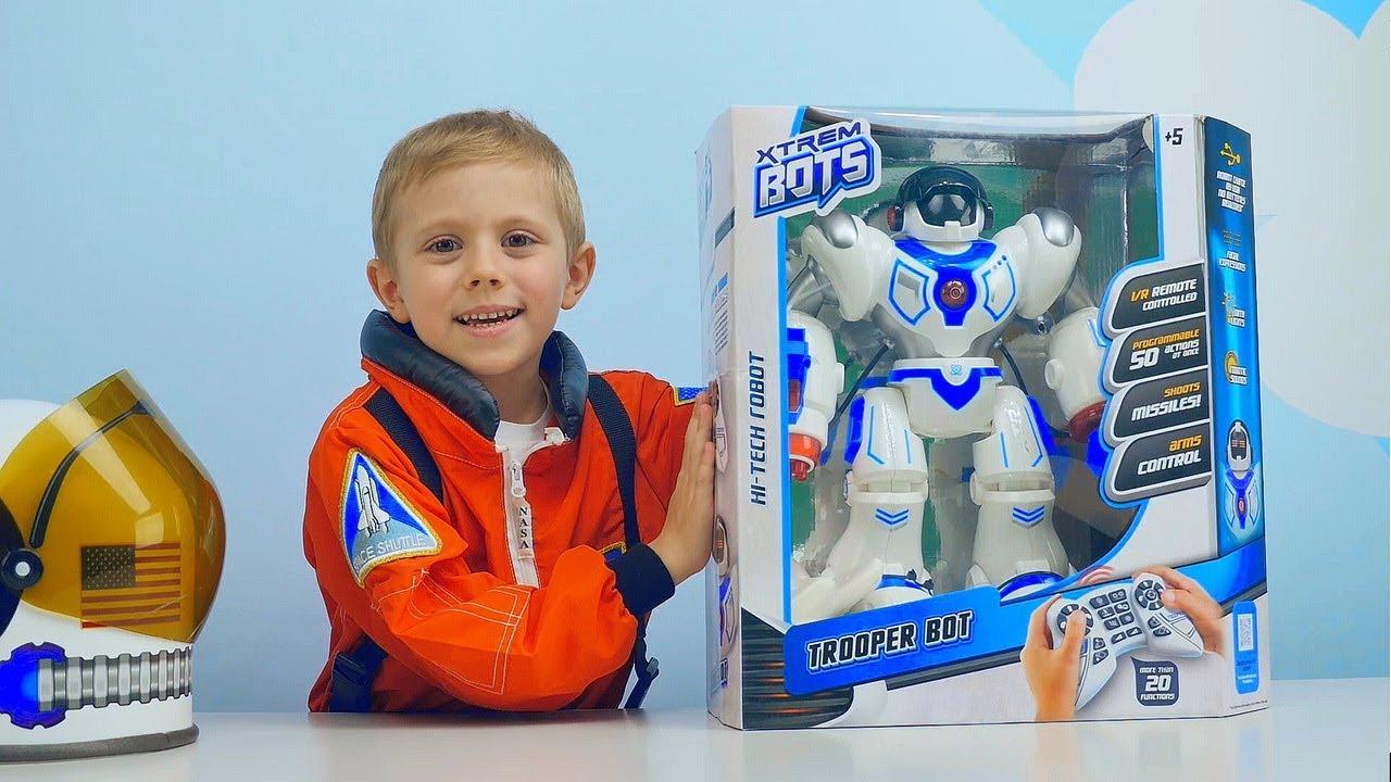 ИГРУШКИ РОБОТЫ для Детей  БОЛЬШОЙ Умный Робот и Робот Исследователь с Робопсом