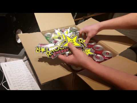 🎁UNBOXING: FREE ROCKSTAR ENERGY DRINKS & STICKER