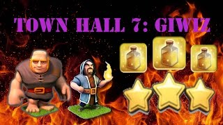 Clash Of Clans ♦️ TH7 3 STAR ATTACK STRATEGY ♦️ GiWiz with 3 heal spells