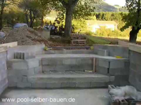 schwimmbad poolbau teil 4 youtube. Black Bedroom Furniture Sets. Home Design Ideas