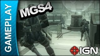 Metal Gear Solid 4 - Command Center Battle - Gameplay