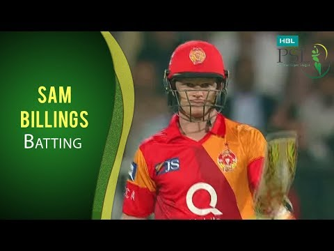 PSL 2017 Match 7: Islamabad United v Quetta Gladiators - Sam Billings Batting